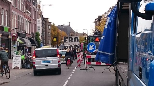 Gevaarlijke verkeerssituaties door verbouwing Albert Heijn Nachtegaalstraat