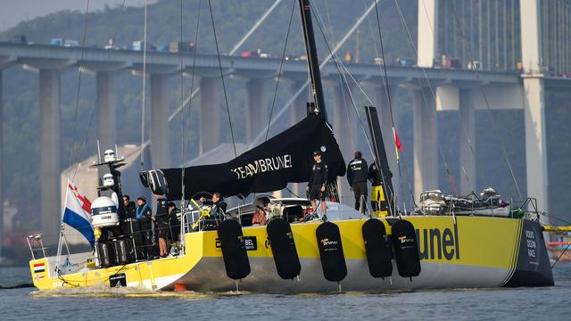 Team Brunel wint zevende etappe Ocean Race na zenuwslopend slot