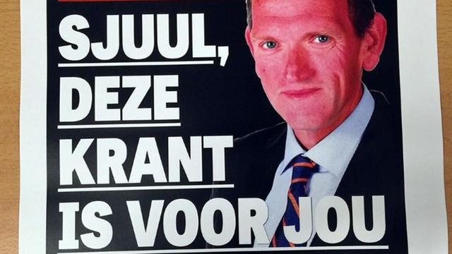 Redactie Telegraaf wijdt voorpagina aan Sjuul Paradijs