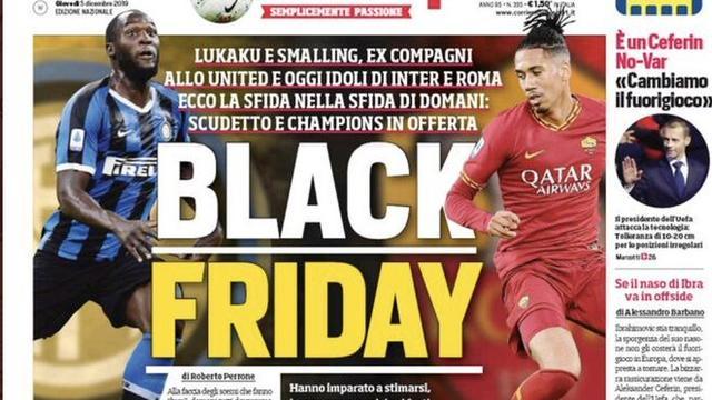 Inter en Roma veroordelen racistische kop in Italiaanse sportkrant