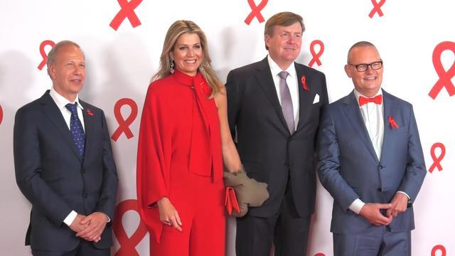 Koningspaar bij concert voor aidsbestrijding