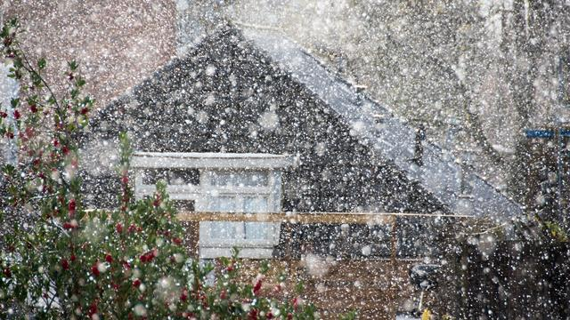 Sneeuw gevallen op verschillende plaatsen in Nederland