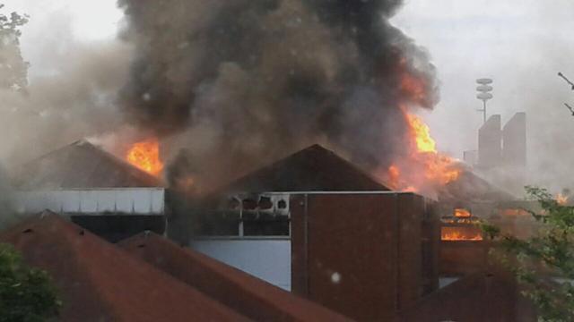Brand in schoolgebouw in Rijswijk
