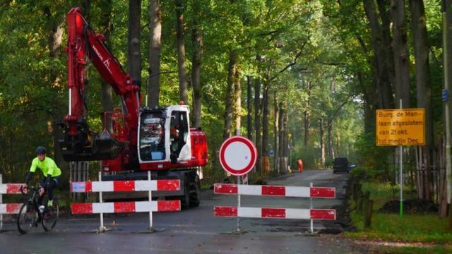 Grootschalige werkzaamheden aan wegen in Mastbos van start