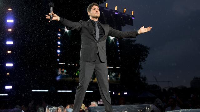 Michael Bublé maakt na twee jaar weer comeback op festival in Londen