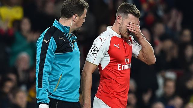 Arsenal minimaal drie weken zonder middenvelder Ramsey