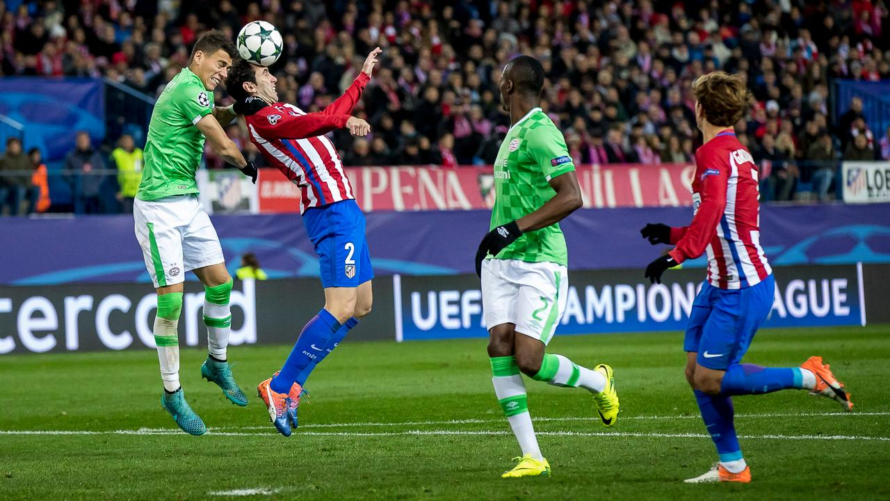 Samenvatting Atletico Madrid-PSV (2-0)