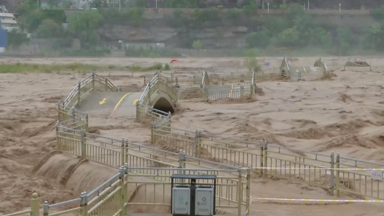Overstroming Gele Rivier China bereikt hoogtepunt