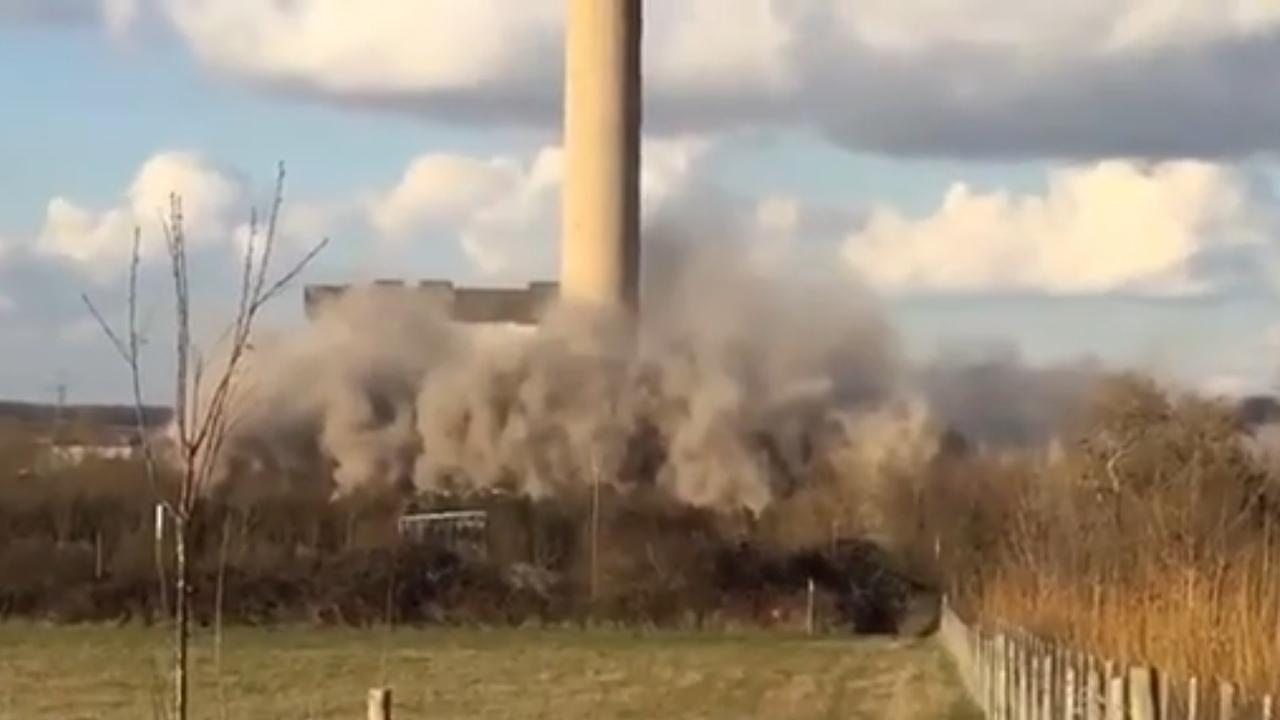 Grote ravage na instorten energiecentrale Oxfordshire