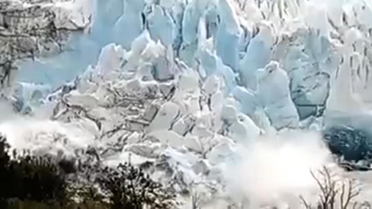 Deel van enorme gletsjer in Argentinië breekt af