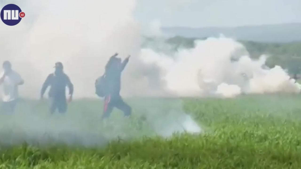 Macedonische politie gebruikt traangas tegen migranten