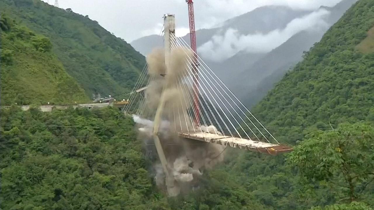 Colombiaanse kabelbrug opgeblazen met explosieven