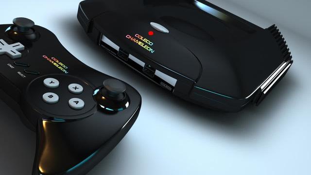 Nieuwe console met cartridges in de maak