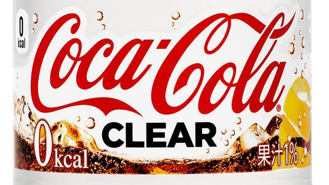 Japanse Coca-Cola brengt transparante versie op de markt