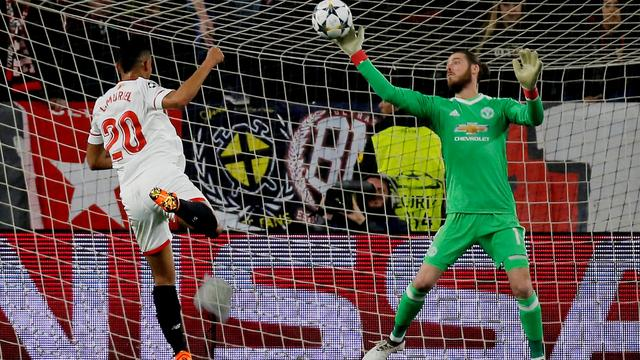 De Gea behoedt United voor nederlaag in heenduel met Sevilla