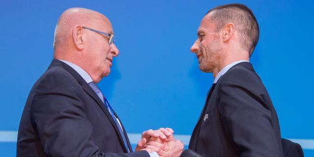 KNVB-voorzitter Van Praag herkozen in uitvoerend comité UEFA