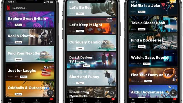 Netflix test afspeellijsten die door mensen worden samengesteld