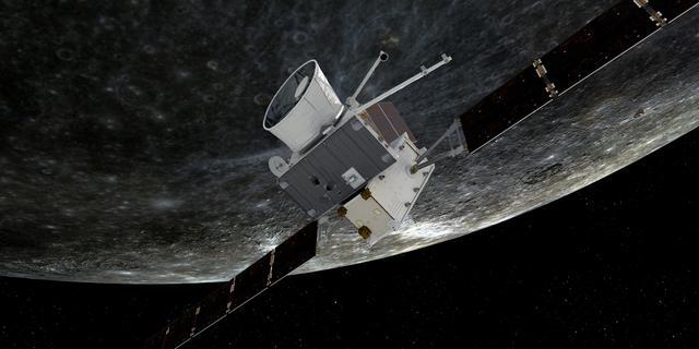 Europese ruimtesonde BepiColombo vliegt voor het eerst langs Mercurius