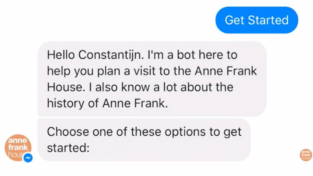Zo werkt de chatbot van het Anne Frank Huis