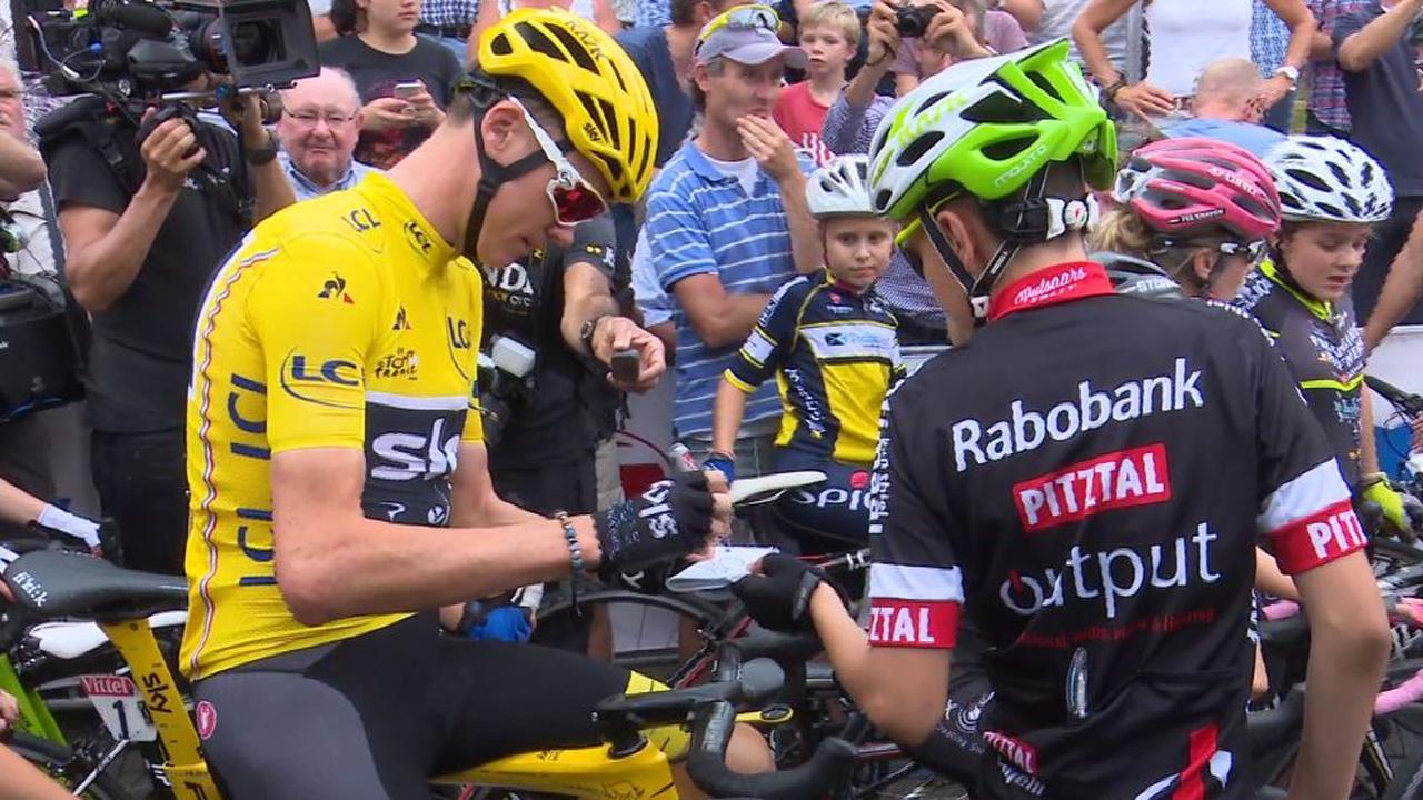 Tourwinnaar Froome warm onthaald door fans in Chaam