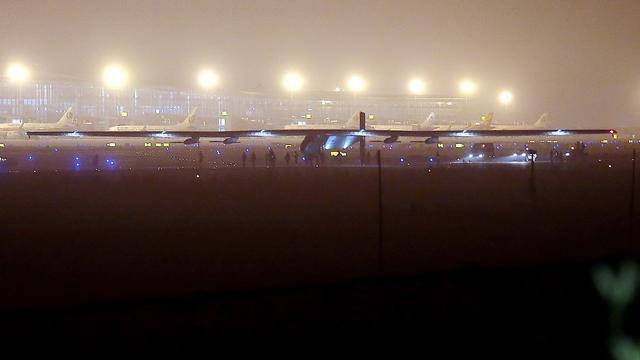 Vlucht met zonnevliegtuig afgebroken vanwege weersverwachting