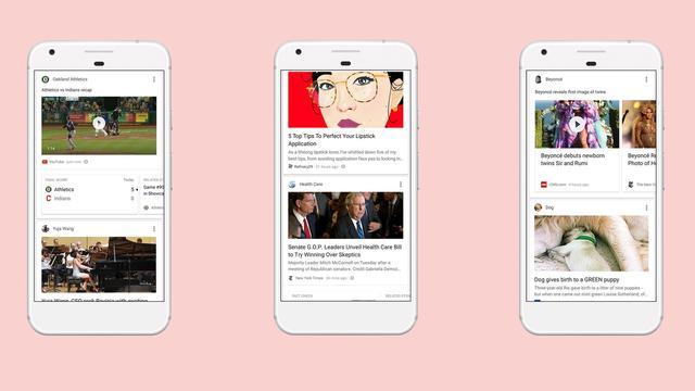 Google breidt nieuwsfeed in zoek-app uit