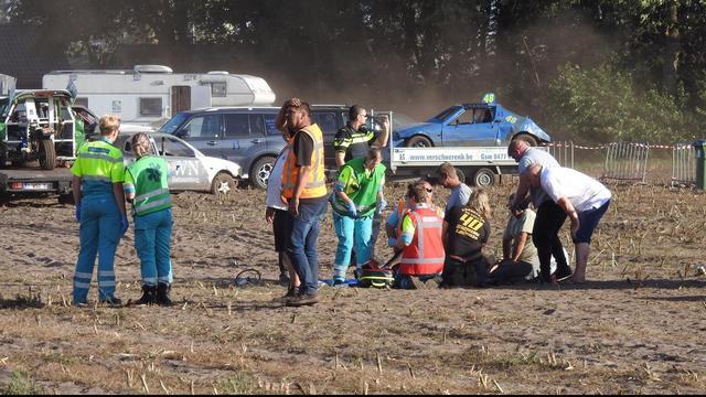Vijfde slachtoffer door aanrijding autocross Leende.