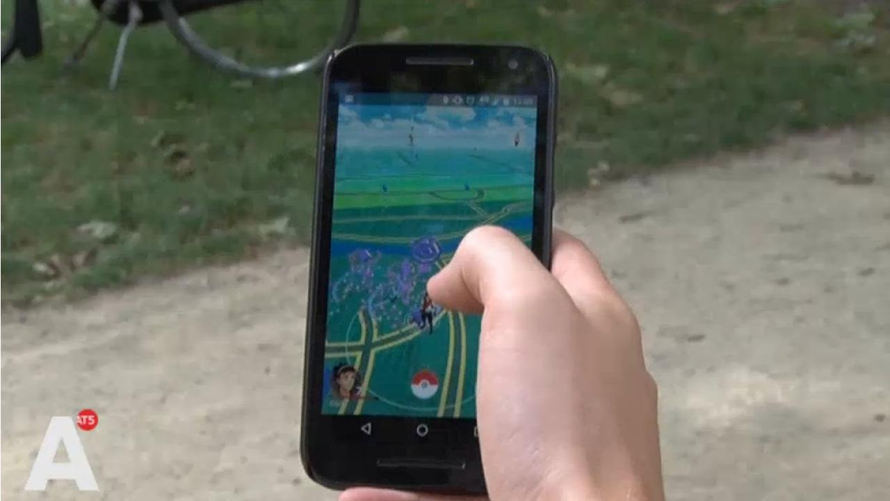 Pokémon Go in het Vondelpark