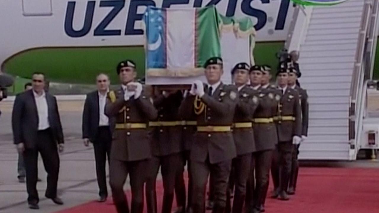 Oezbeken nemen afscheid van president Islam Karimov