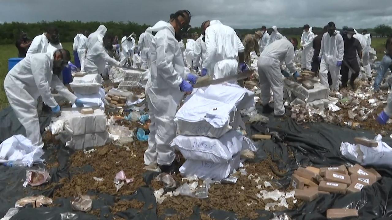Panamese politie vernietigt enorme hoeveelheden cocaïne