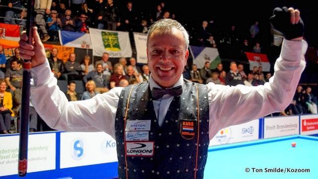 Dick Jaspers verovert voor vijfde keer Europese titel driebanden