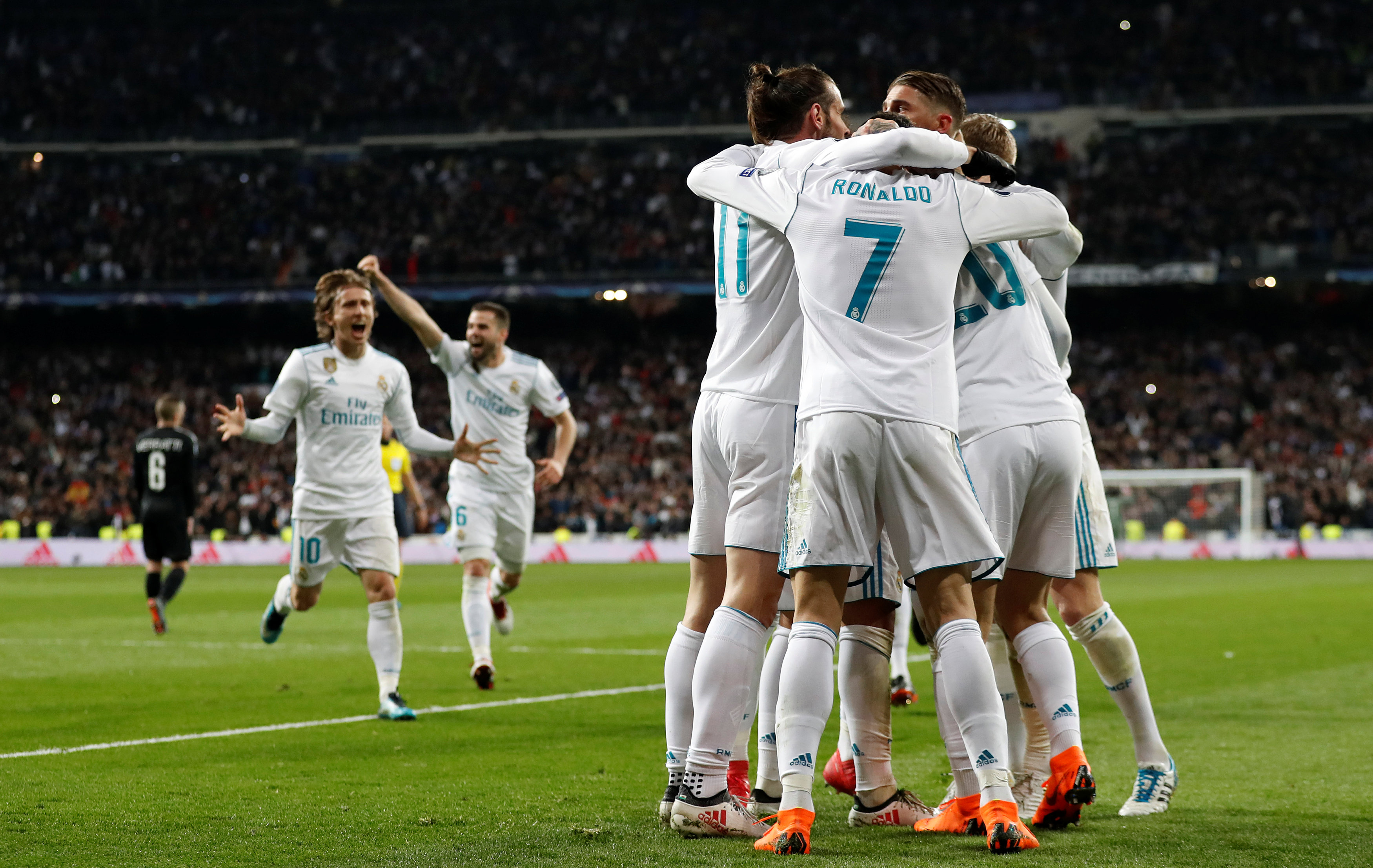 Effectief Real in slotfase langs PSG in achtste finales Champions League