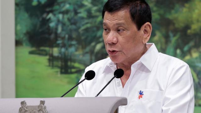 Duterte wil militairen inzetten in oorlog tegen drugs