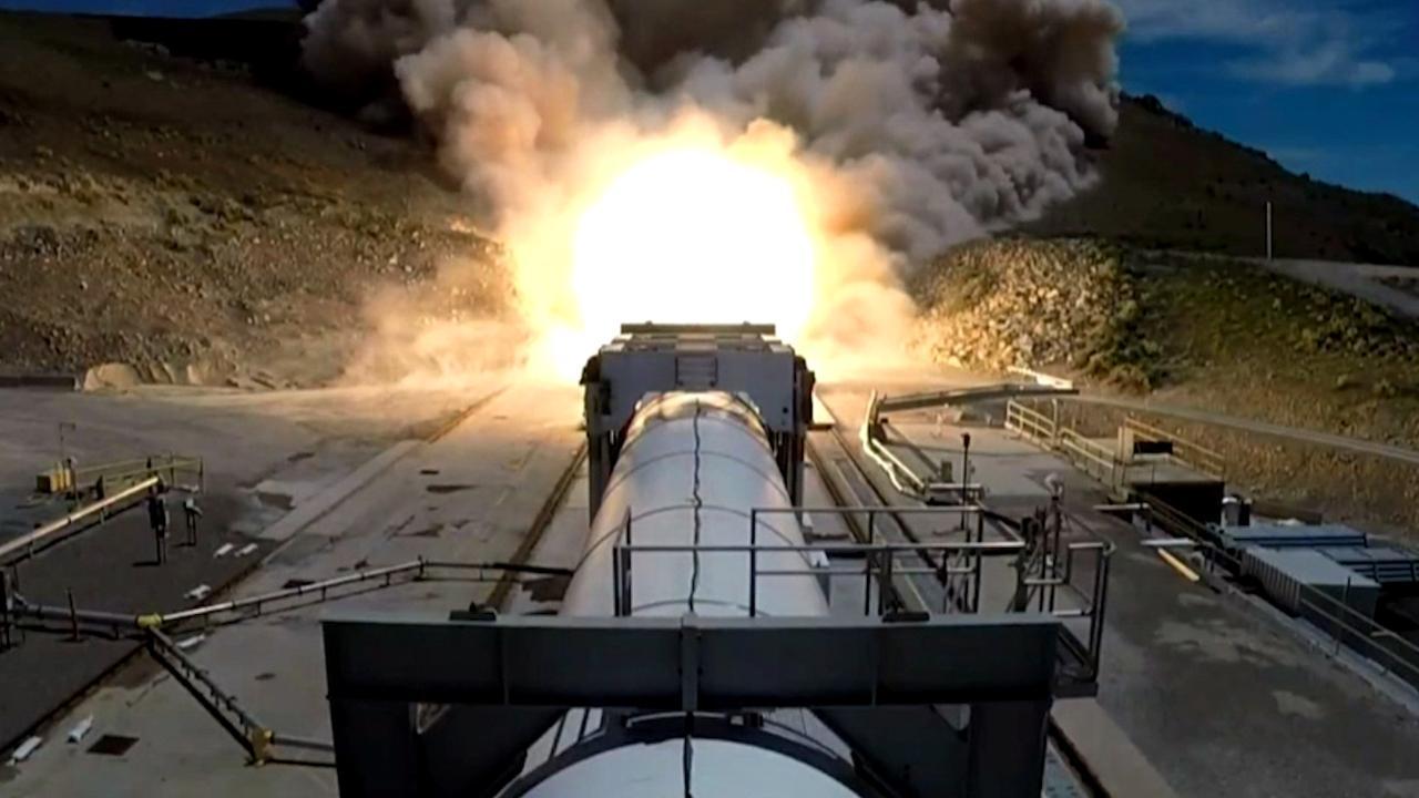 Ruimtevaartbedrijf voert in VS eerste test met nieuwe raket uit