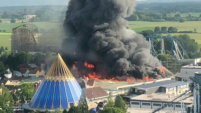 Grote brand in Europa-Park in Duitsland onder controle