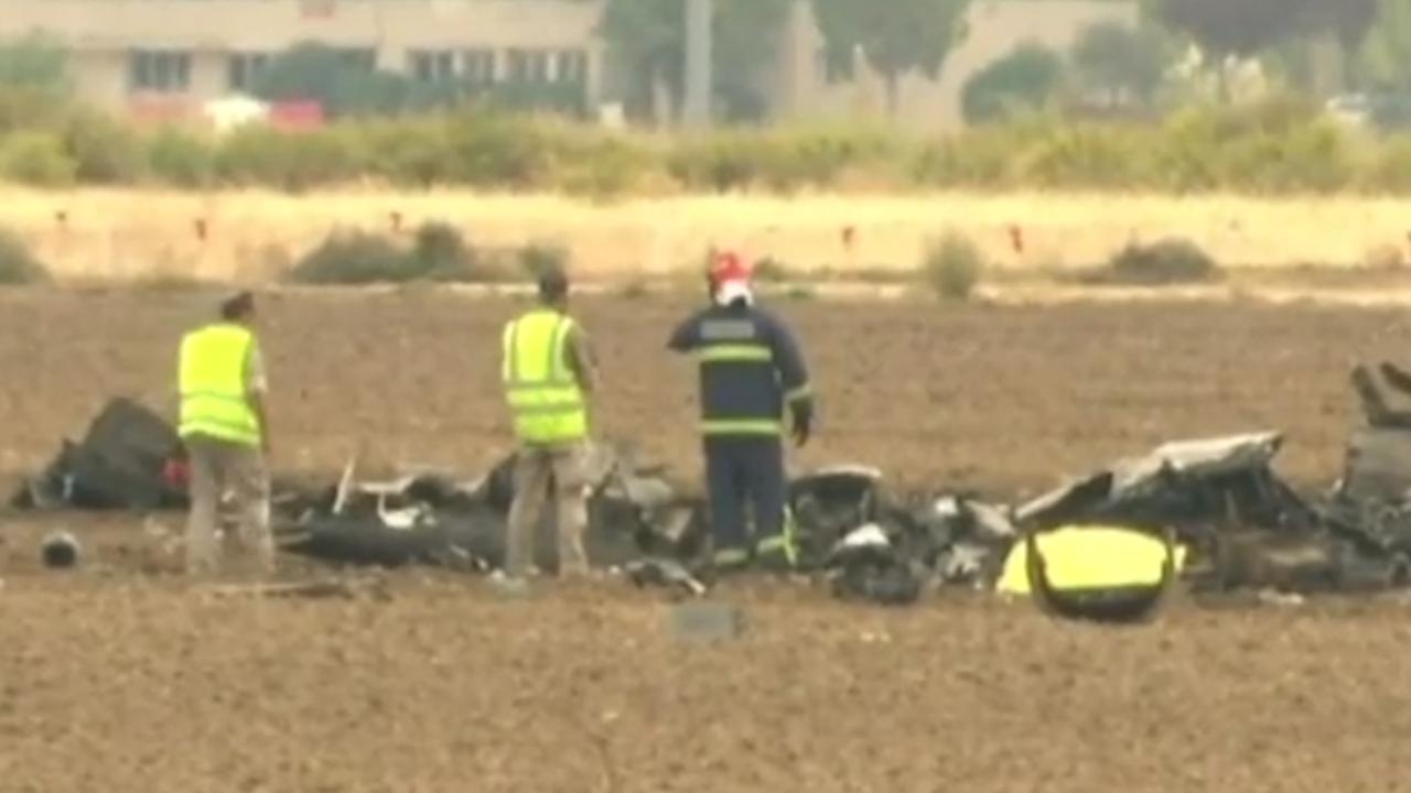 Brandweer onderzoekt puin na dodelijke crash straaljager in Spanje