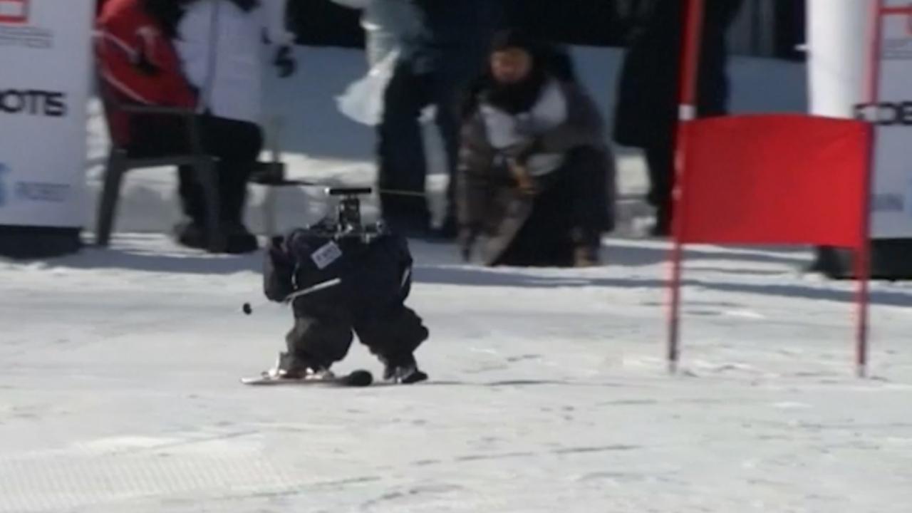 Zuid-Korea houdt 'alternatief op Spelen' met skiënde robots