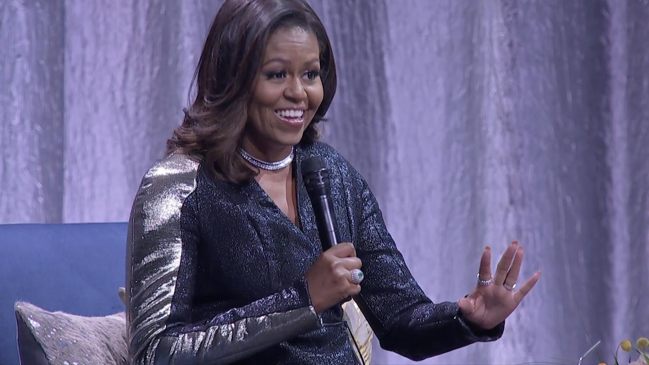 Michelle Obama in Amsterdam: 'Soms ben ik te eerlijk'