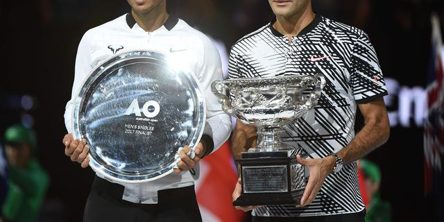 Federer verslaat Nadal in finale Australian Open en wint 18e Grand Slam