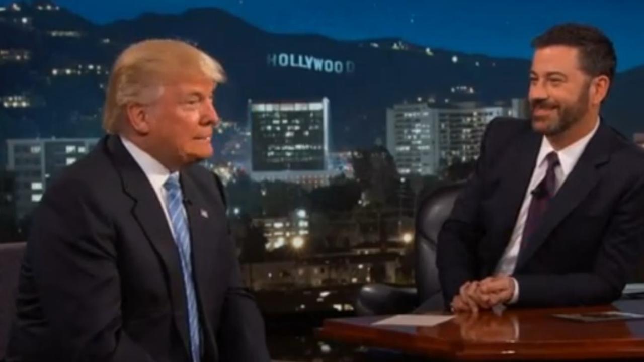 Donald Trump op bezoek bij Jimmy Kimmel Live