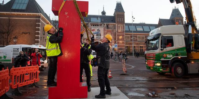Letters I amsterdam definitief verwijderd van Museumplein
