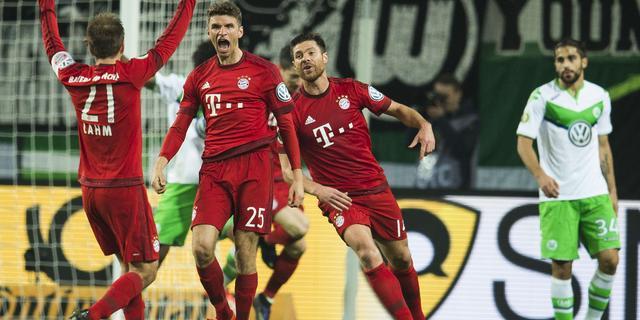 Bayern München veel te sterk voor VfL Wolfsburg in DFB Pokal