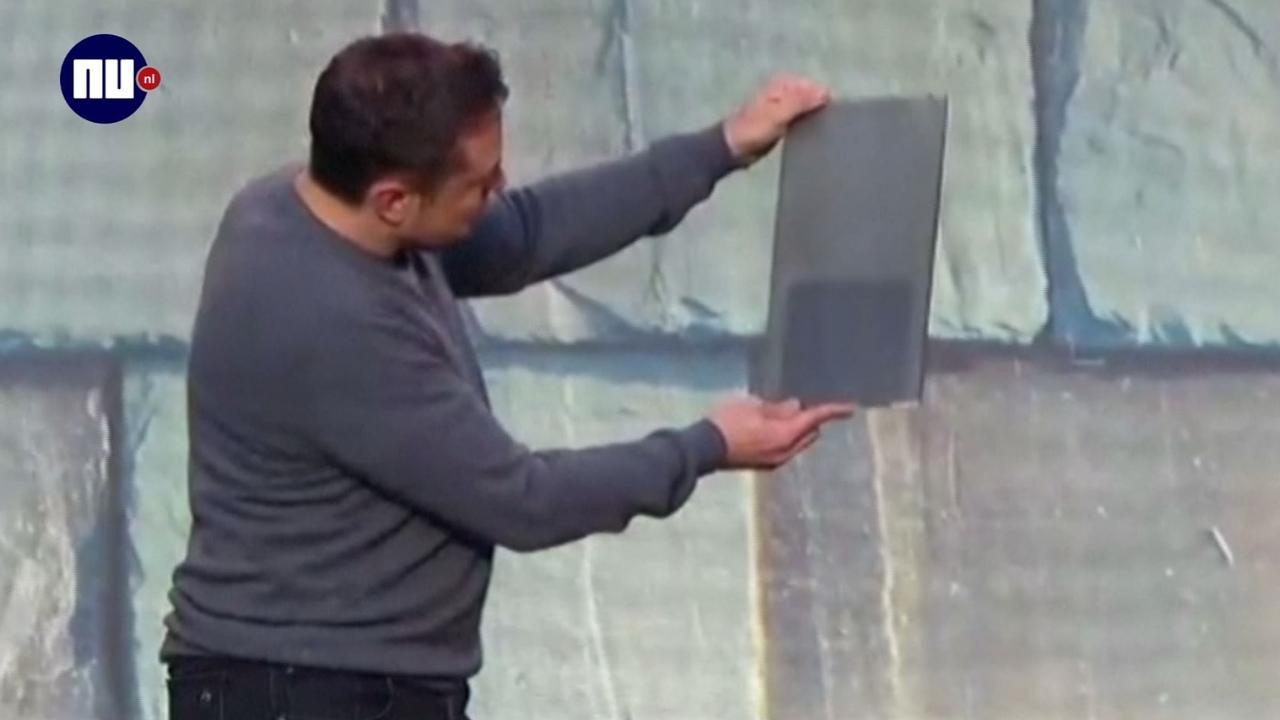 Tesla toont zonnepanelen in vorm van dakpannen