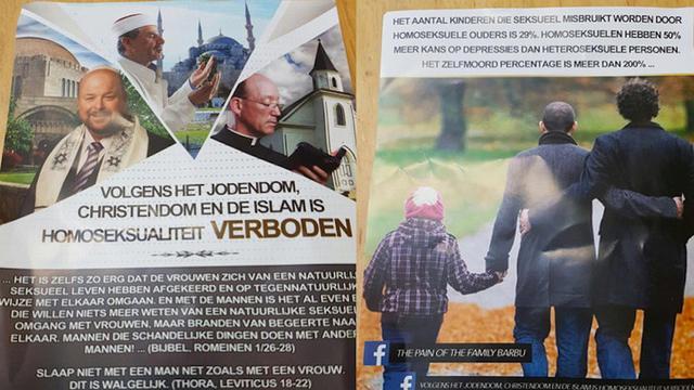 'Homofobe flyers mogelijk afkomstig van volgers Turkse prediker Yahya'