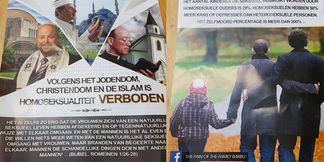 Politie onderzoekt 'anti-homo-flyer' Amsterdam