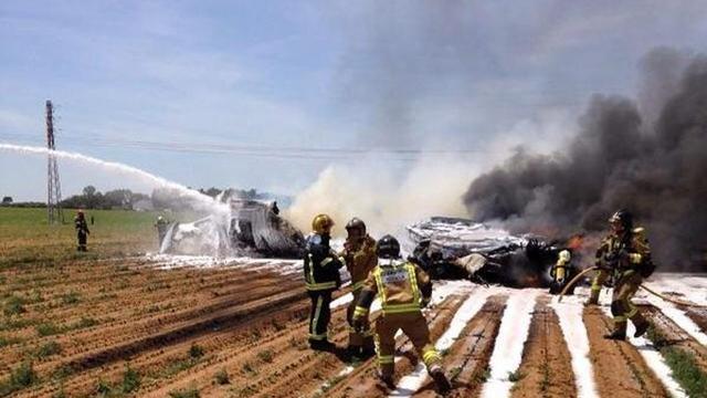 Zeker vier inzittenden omgekomen bij crash militair vliegtuig in Sevilla