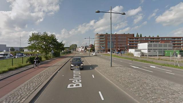 Tijdelijk verkeershinder op Belcrumweg door eenzijdig ongeval