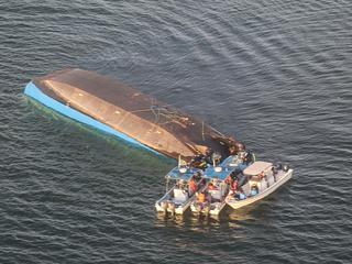 Aan boord van de veerboot was plaats voor slechts honderd personen