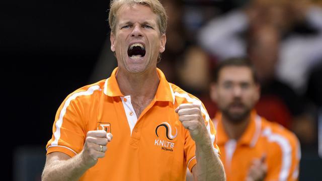 Siemerink baalt van eerste dag Davis Cup-team tegen Zwitserland