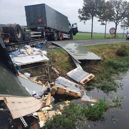 Gekantelde oplegger Defensie in Drenthe bevatte kogels en mortiergranaten